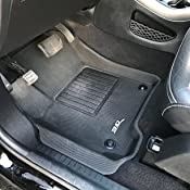 3D MAXpider Front Row Custom Fit All-Weather Floor Mat for Select Dodge Journey Models