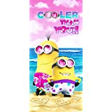 Minions Cooler than you! Beach Towel measures 28 x 58 inches