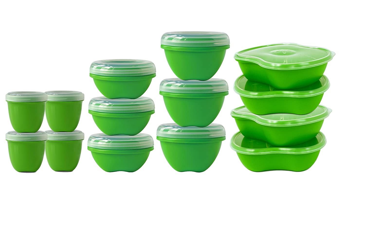 Kitchen Storage Plastic Containers Part - 33: Amazon.com: Preserve 14-Piece Food Storage Set Made From Recycled Plastic:  Food Savers: Kitchen U0026 Dining