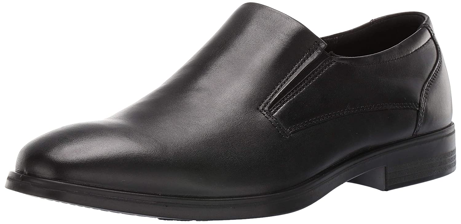 Black ECCO Mens Melbourne Plain Toe Slip on Loafer