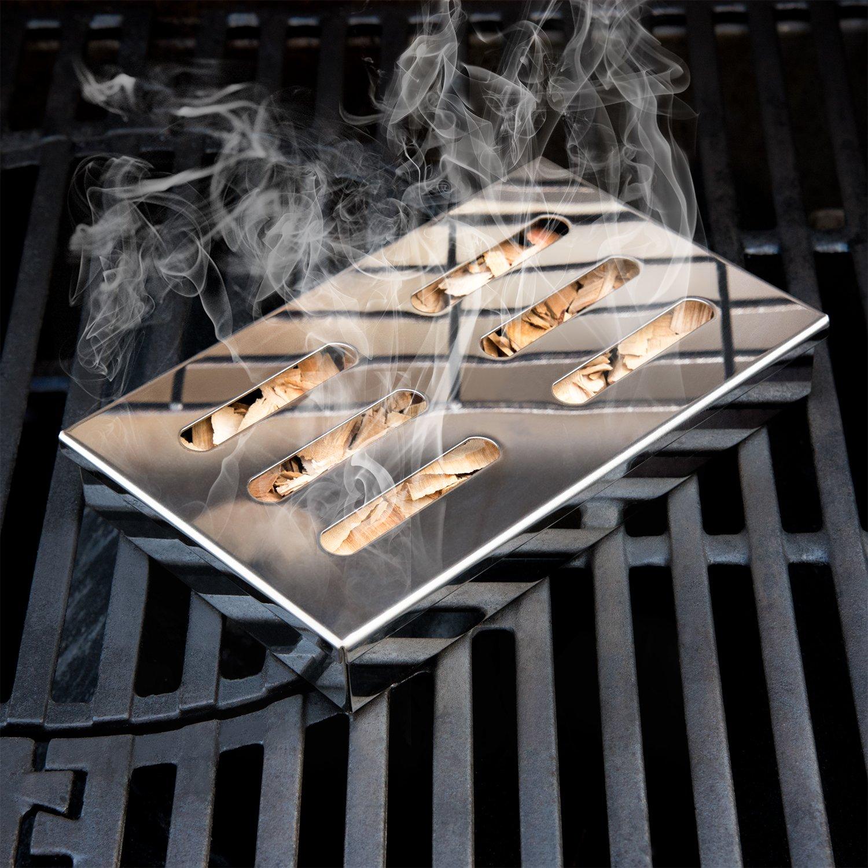Ahumador | Ahumador Caja | smokebox | Ahumador Caja | Barbacoa/Grill para parrilla de gas, barbacoa, barbacoa | aporta Carbón bien el aroma | Acero ...