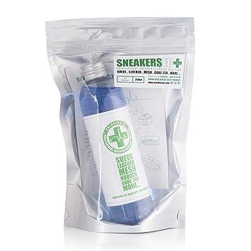 SNEAKERS ER Juego de líquido y cepillo para limpieza de zapatillas, 250ml