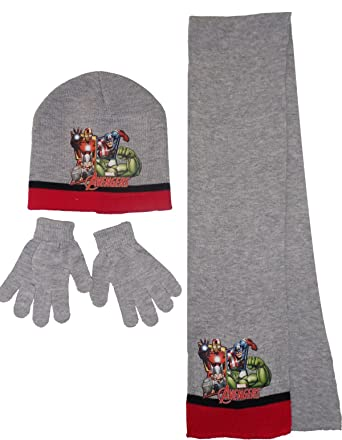 2ae25f4446809 Marvel The Avengers Kids Hat Scarf and Gloves Set (52 cm