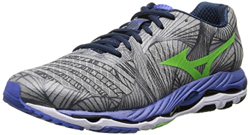 Mizuno Men's Wave Paradox Alloy/Green Flash/Dazzling Blue Sneaker 9.5 D - Medium