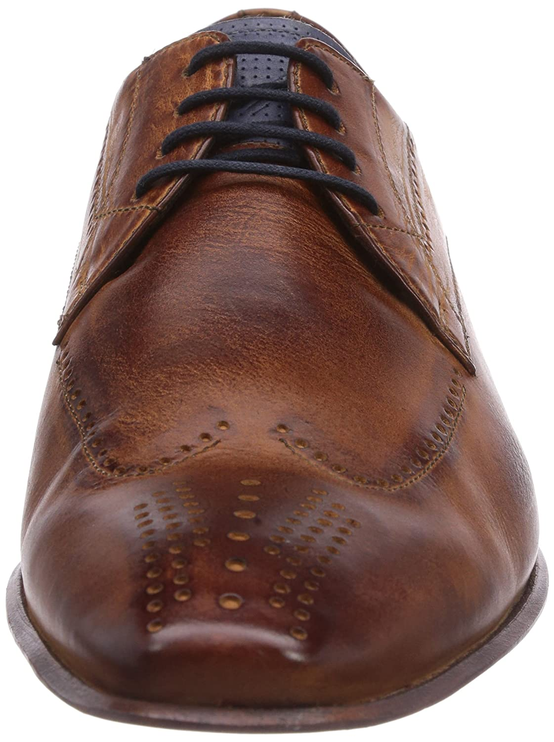 Hb10041w, Mens Brogue Lace-Up Half Shoe Daniel Hechter