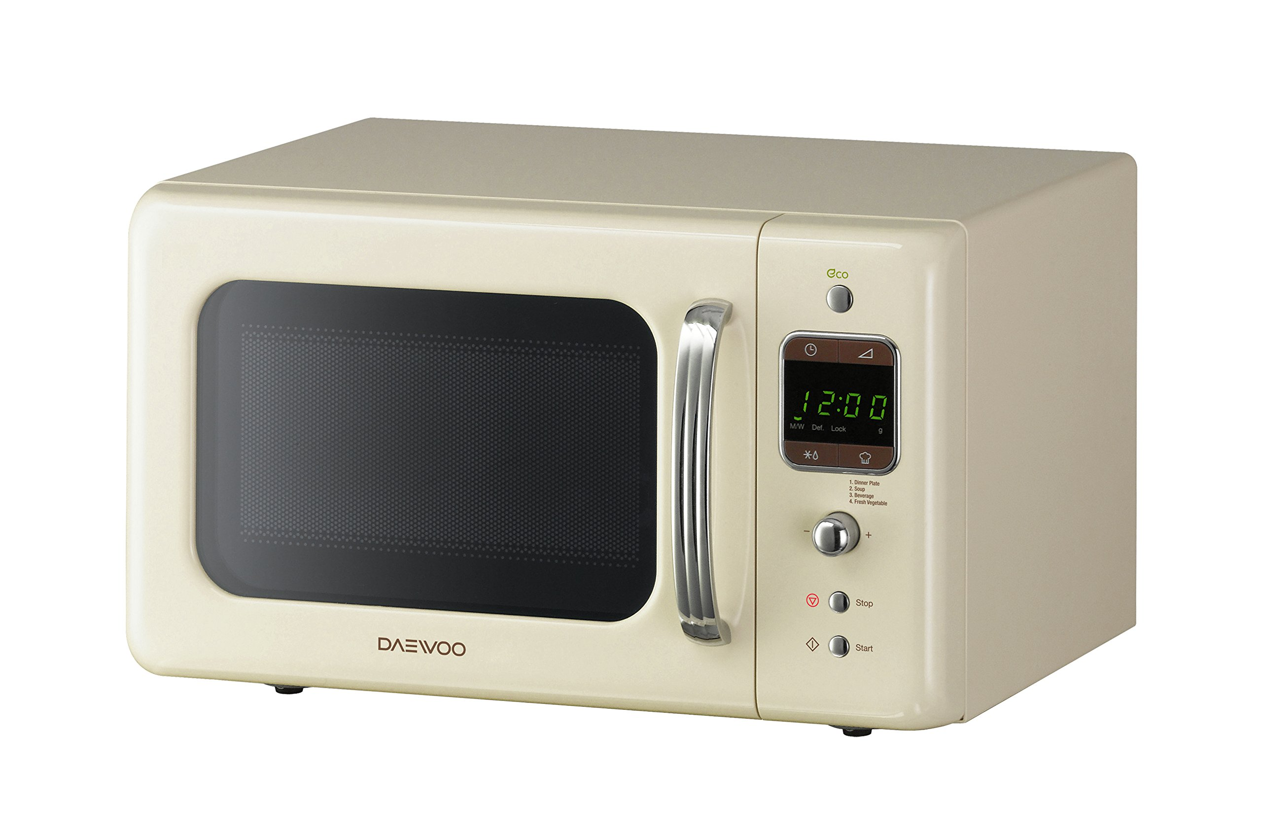daewoo kor7lbkc retro style microwave oven 20 l 800 w cream new ebay. Black Bedroom Furniture Sets. Home Design Ideas