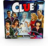 Hasbro Gaming Clue Game; Incudes The Ghost of Mrs. White; Compatible with Alexa (Amazon Exclusive); Mystery Board Game for K