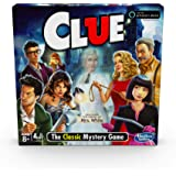 Hasbro Clue Game; Incudes The Ghost Of Mrs. White; Compatible With Alexa (Amazon Exclusive); Mystery Board Game For Kids Ages