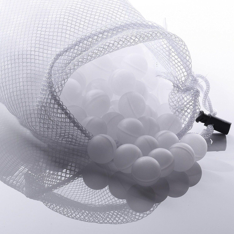 FollowHeart 250 Palline sottovuoto con borsa asciugatrice in rete, minima dispersione termica ed evaporazione dell'acqua, senza BPA, per sottovuoto e circolatori ad immersione di precisione