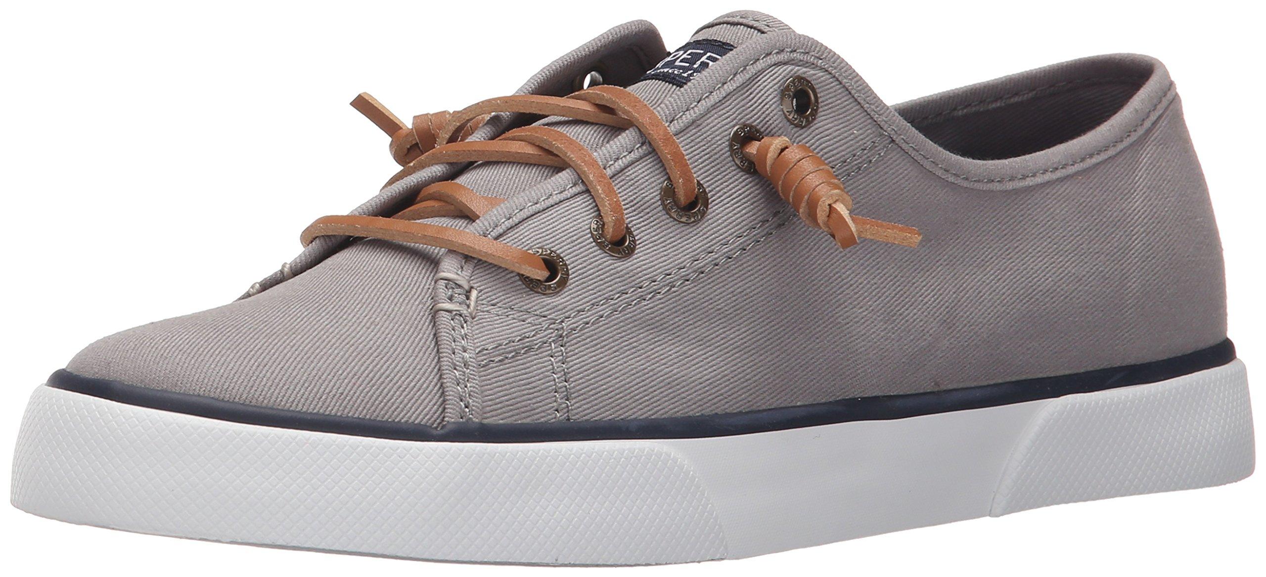 Sperry Top-Sider Women's Pier View Sneaker, Grey, 11 Medium US