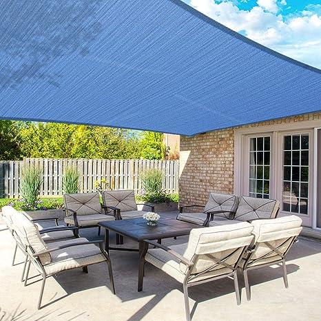 MOVTOTOP - Parasol Rectangular de 10 x 13 pies, 185 g/m² de Grosor para Exteriores, bloquea el 95% de los Rayos UV, Mantiene Fresco para Cubierta, ...