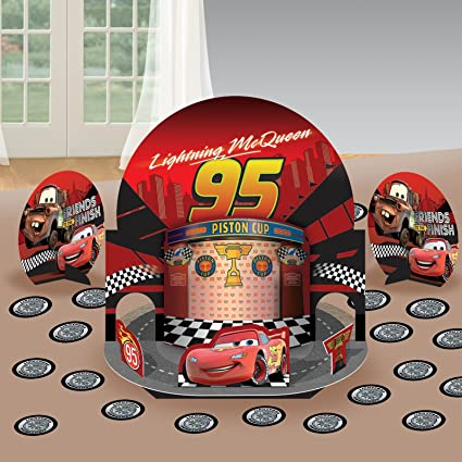 Amazon.com: Disney/Pixar Cars Dream fiesta decoraciones de ...