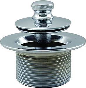 "Westbrass 1-1/2"" NPSM (1-7/8""-11.5 UNC-2A) Coarse Thread Twist & Close Bath Drain Plug, Chrome, 79438CP-Z"