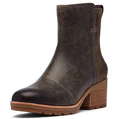 Sorel - Women's Cate Bootie Waterproof Ankle Boot with Stacked Heel | Shoes