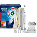 Oral-B PRO 6500 + Bonus Handle Electric Toothbrush - electric toothbrushes (Battery, CrossAction, Sensitive, 3D White, FlossAction)