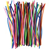 Anvin Pipe Cleaners 100 Pcs 10 Colors Chenille Stems for DIY Crafts Decorations Creative School Projects (6 mm x 12 Inch, Ass