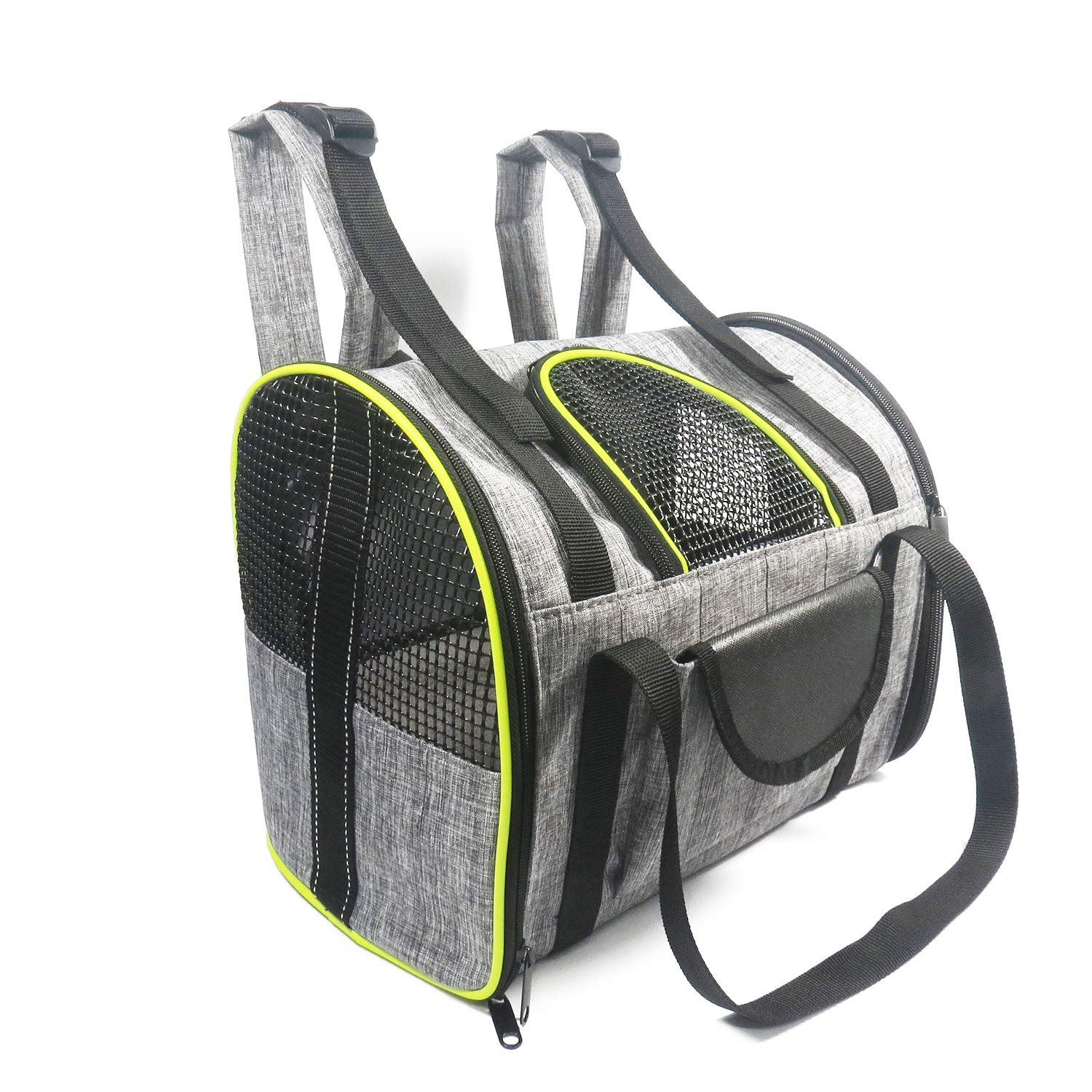 Dog Carrier Backpack, Pet Carrier Bag with Mesh for Small Dogs Cats Puppies, Comfort Cat Backpack Bag for Hiking Travel Camping Airline Approved Outdoor Hold Pets