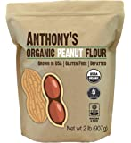 Organic Peanut Flour, De-fatted, (2lbs) by Anthony's, Light Roast 12% Fat, Verified Gluten-Free