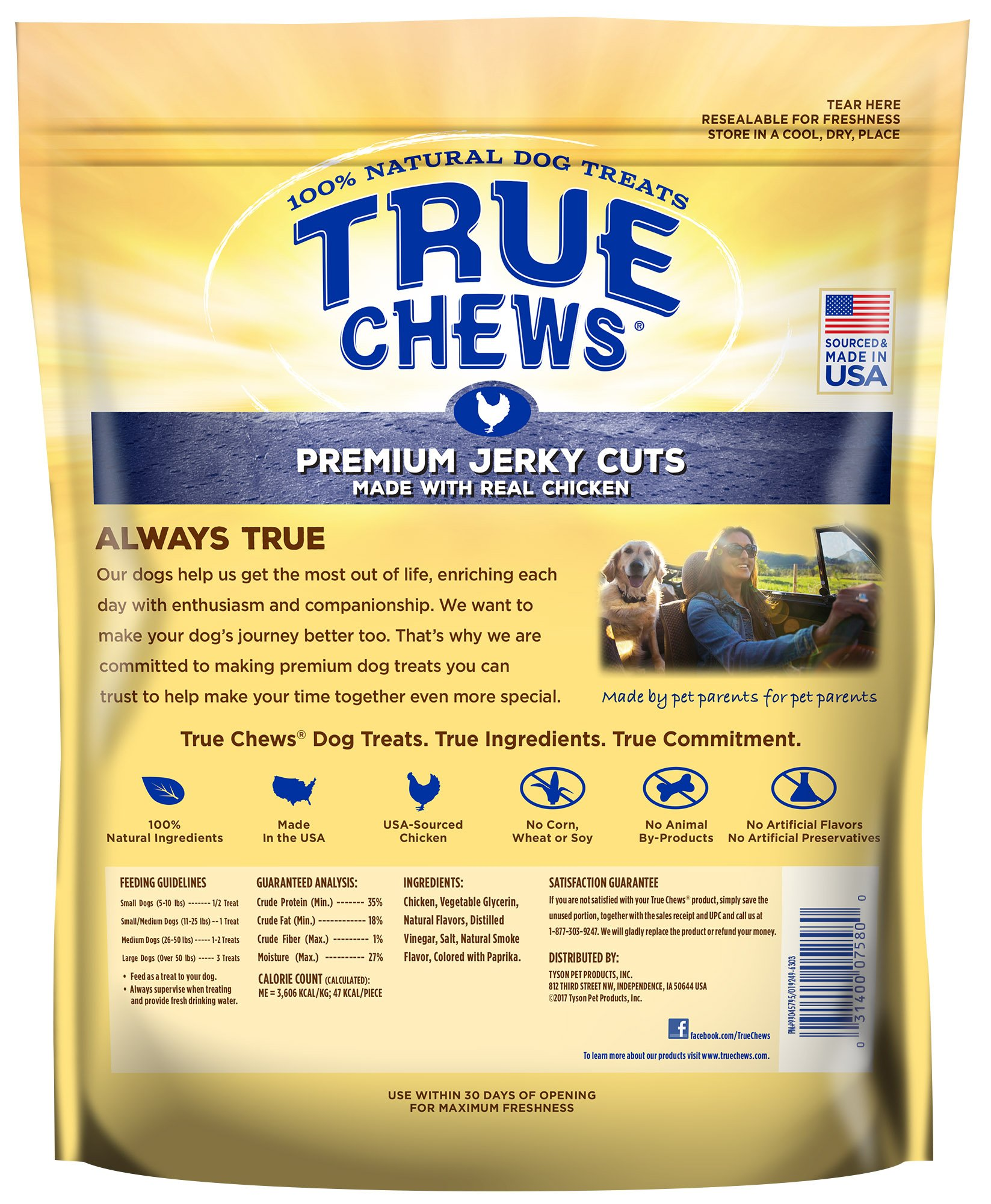 True Chews Tyson Pet Products Premium Jerky Cuts 12 Ounce Chicken by True Chews (Image #4)