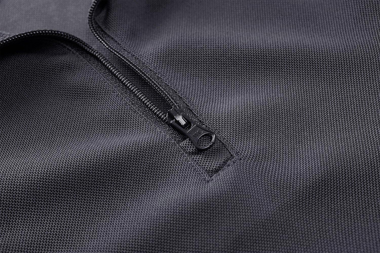MAGCOMSEN M/änner Milit/är Polos Sommer Schnelltrocknend Polyester Wandern Laufen Poloshirts Halber Rei/ßverschluss