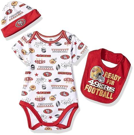 7b7414dd361 Amazon.com : NFL San Francisco 49Ers Unisex-Baby Bodysuit, Bib & Cap ...