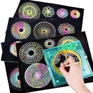 TOYANDONA - Juego de plantillas para dibujar en espiral, para niños ...