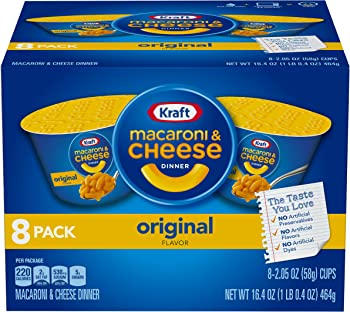 8-Count Kraft Original Macaroni & Cheese Dinner (2.05 oz Cups)