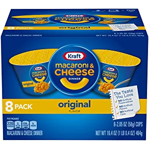 Kraft Original Macaroni & Cheese Dinner (2.05 oz Cups, 8 Count)