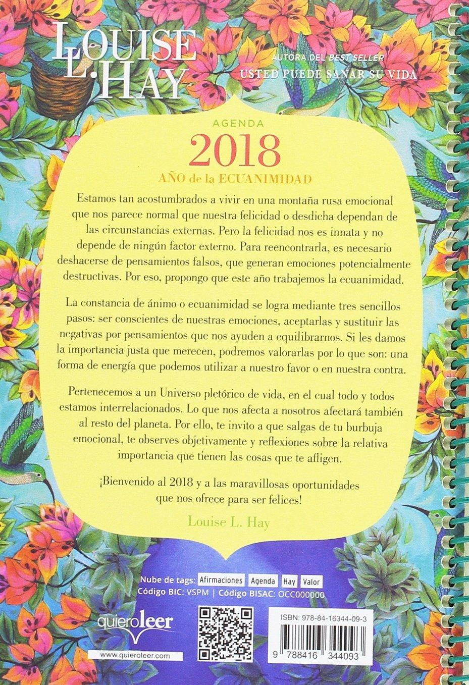 Agenda Louise Hay 2018. Año de la ecuanimidad (Spanish ...