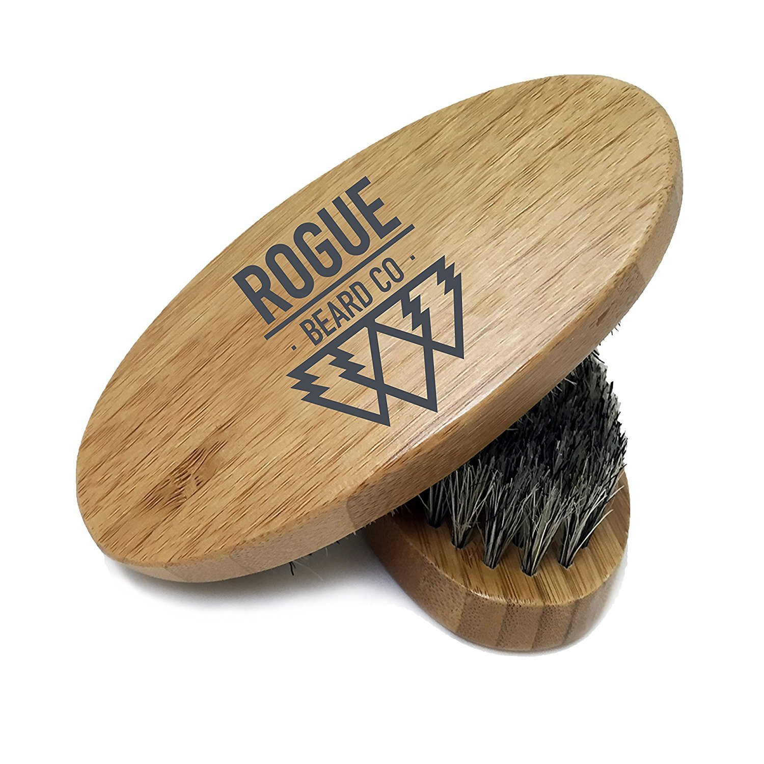 BEARD BRUSH - Wooden Boar Hair Bristle Beard Brush by Rogue Beard Company - Perfect For a Beard Grooming Kit for Men - Made of Boars Hair Bristles and Firm Natural Wood – Great For Men's Gift