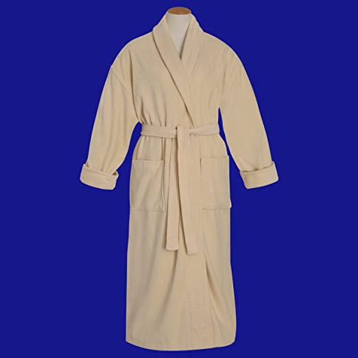 Amazon.com   100% Combed Cotton Ecru Velour Shawl Collar Bathrobe- 12 Oz.    Bath And Shower Product Sets   Beauty a5998b9ce