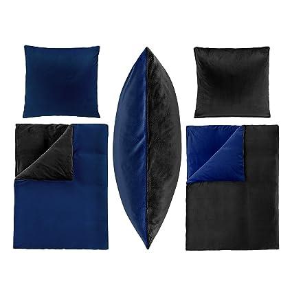 2-Teilige Bettwäsche Set Bett Bezug 135x200 cm Kopfkissen 80x80 cm PLÜSCH Coral Fleece Cashmere Touch Super Weich Soft Einfar
