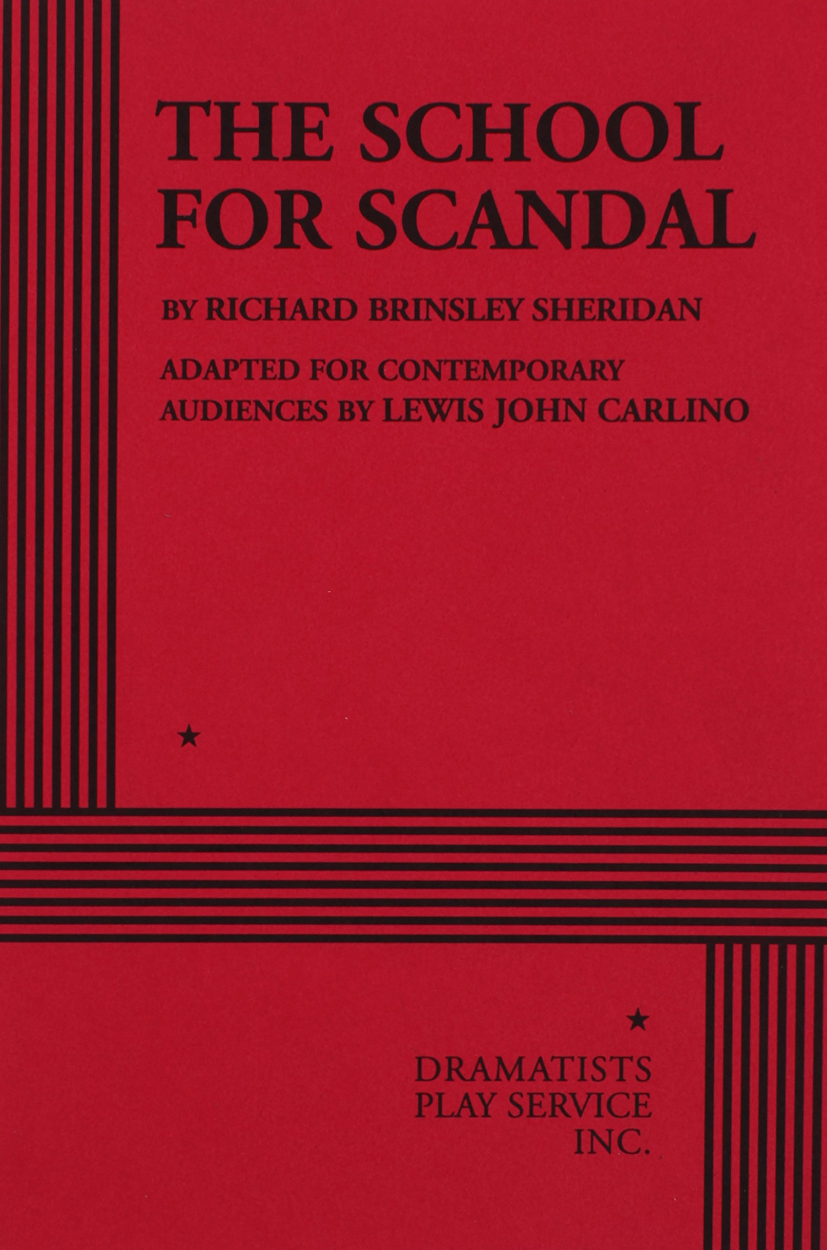 The School for Scandal - Acting Edition PDF