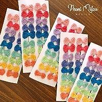 Moñitos arcoiris - PEONI MILOU/moños para el cabello/lazos para bebés o niñas/regalo/set de regalo/baby shower/bautizo/cumpleaños