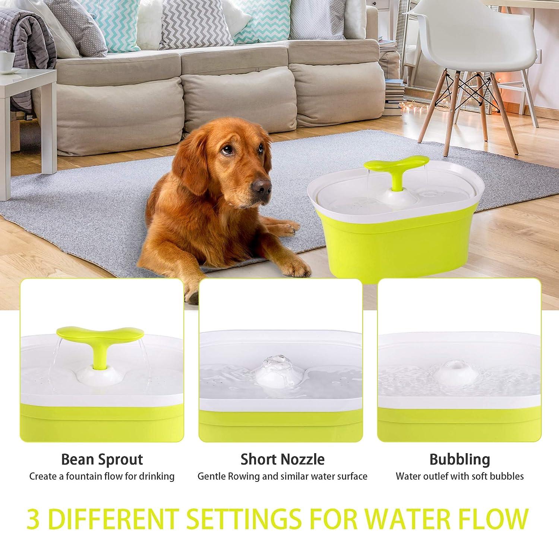 Pet-U - Fuente para Beber para Gatos, 2,8 l, automática, para Perros y Gatos, con Filtro, silenciosa, Antideslizante, dispensador de Agua: Amazon.es: Hogar