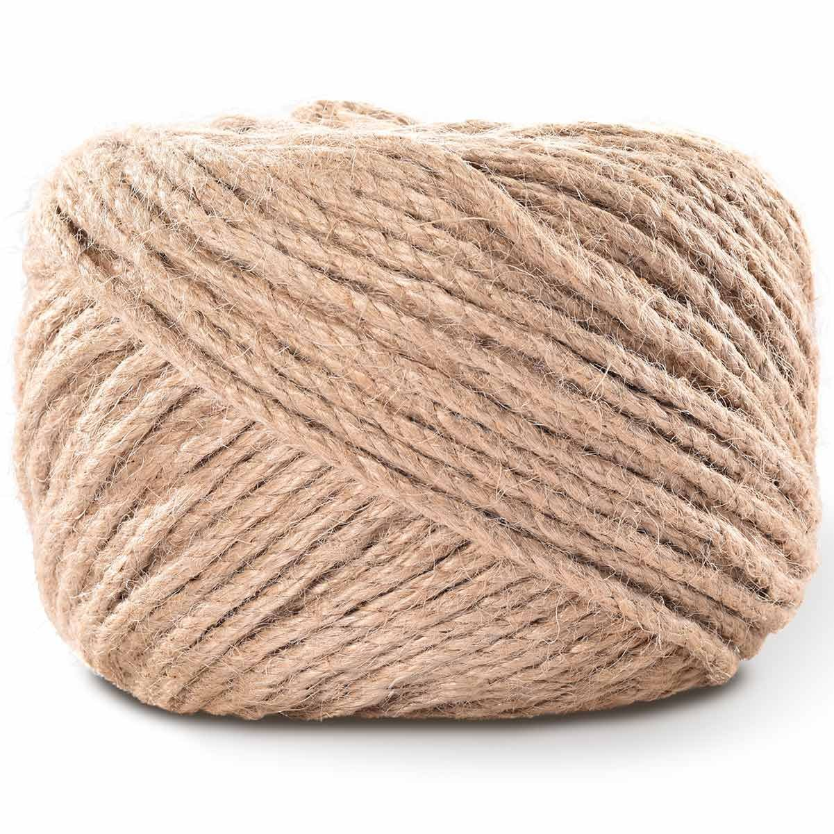 LOOMY 4mm 300 Feet Natural Jute Twine Arts and Crafts Jute Rope Industrial Packing Twine for DIY Crafts,Gardening Applications,Nursery Construction,Rustic Brown