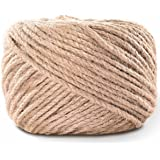 LOOMY 4mm 300 Feet Natural Jute Twine Arts and Crafts Jute Rope Industrial Packing Twine for DIY Crafts, Gardening Applicatio
