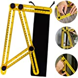 Multi Angle Measuring Ruler Professional Angle Measurement Tool Easy Angleizer Template Tool for Craftsmen, Builders & Handymen