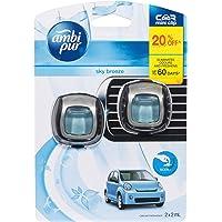 Ambi Pur Car Mini Clip Sky Breeze, 2 x 2 Milliliters, Packof6
