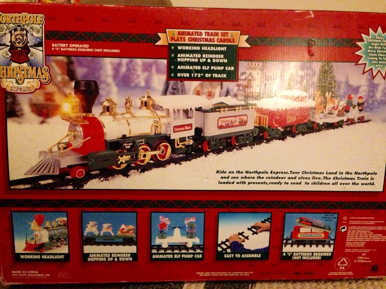 Amazon.com: North Pole Christmas Express Train Set: Toys & Games