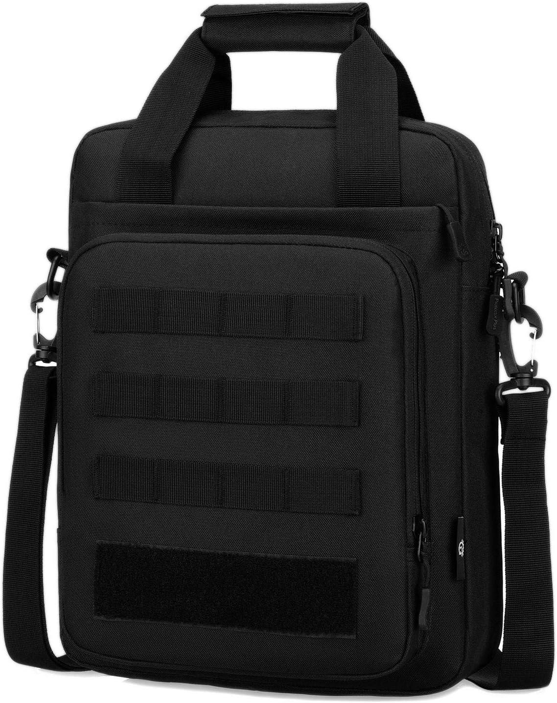 Tactical Briefcase Heavy Duty Military Shoulder Messenger Bag Mens Handbag-Black