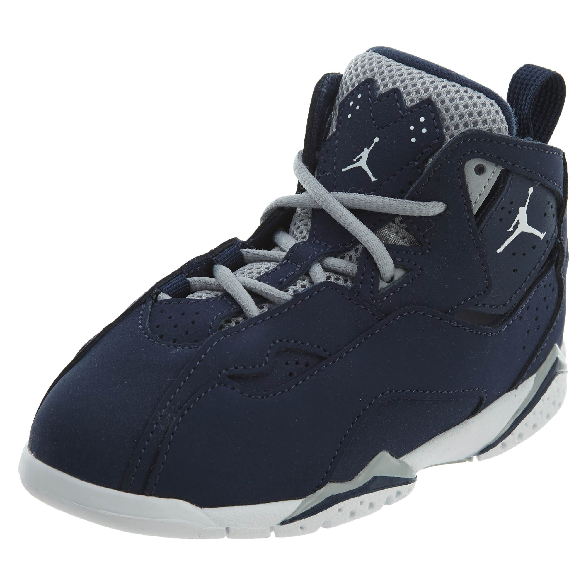 NIKE Jordan True Flight BT Boys Fashion-Sneakers 343797-404_9C - Midnight Navy/White-Wolf Grey