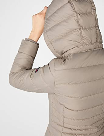 40b4c546bd24 Tommy Jeans Damen Essential Down Langarm Daunenjacke Jacke  Amazon.de   Bekleidung