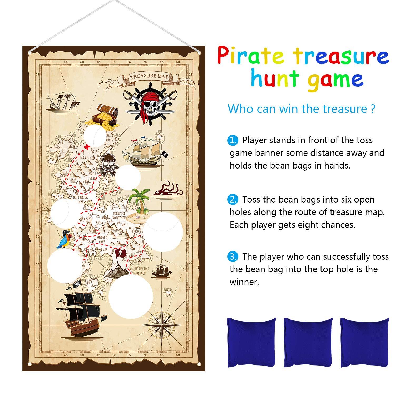 Amazon.com: Bolsa de frijoles piratas juego de lanzamiento ...