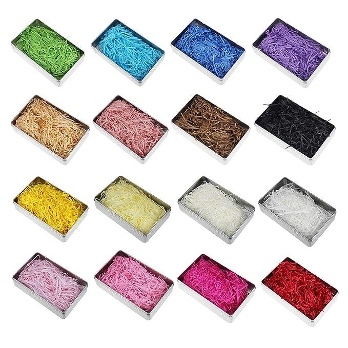 Amazon.com: LJY - Confeti de papel de rafia multicolor de 0 ...