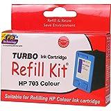 Turbo Refill Kit for hp 703 Multi tri Colour Ink Cartridge