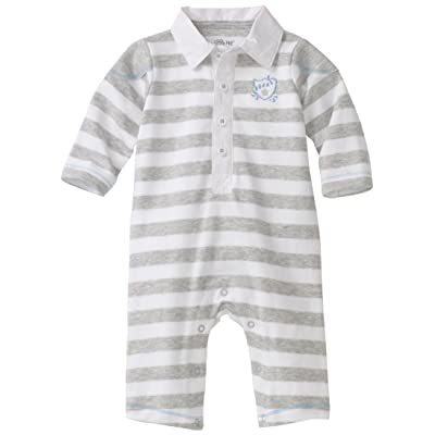 Little Me Baby-Boys Newborn Pup Stripe Coverall