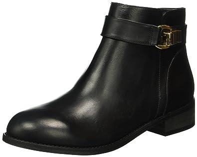 Buffalo London Damen 413-6923 L Silk Leather Kurzschaft Stiefel, Schwarz ( BLACK851)