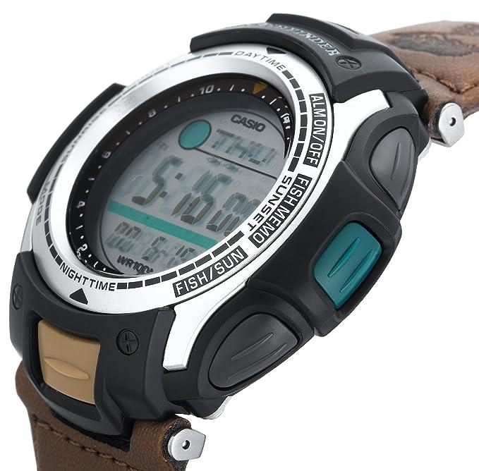 amazon com casio men s pas400b 5v pathfinder resin fishing watch rh amazon com