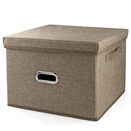 0d34461340bf Amazon.com: iLoft Sturdy Fabric Cube Storage Bin Minimalist Portable ...